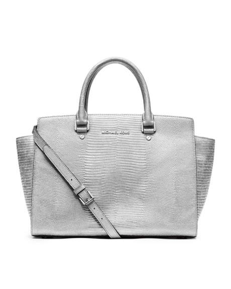 michael kors handbags satchels michael michael kors large selma. Black Bedroom Furniture Sets. Home Design Ideas