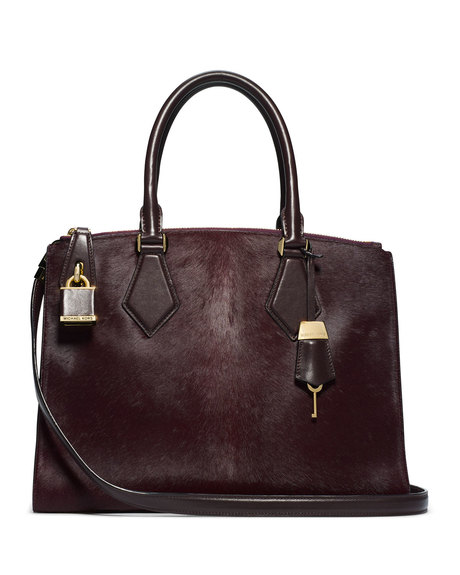 michael kors large casey calf hair satchel 31f4mcys3h. Black Bedroom Furniture Sets. Home Design Ideas