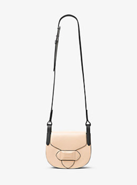 Daria Small French Calf Leather Saddlebag - NUDE - 31T6PDAX1T