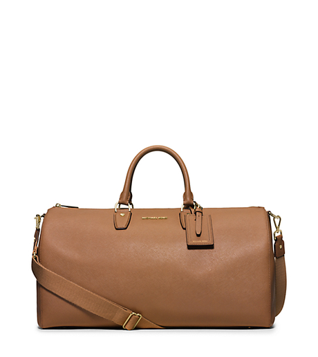 Jet Set Large Leather Weekender - ACORN - 30H5GTTU3L