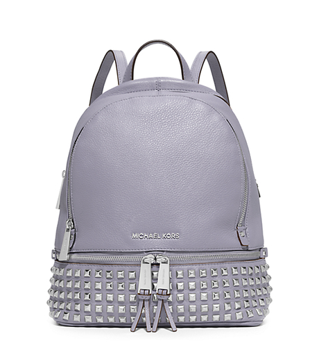 Rhea Small Studded Leather Backpack - LILAC - 30S5SEZB5L