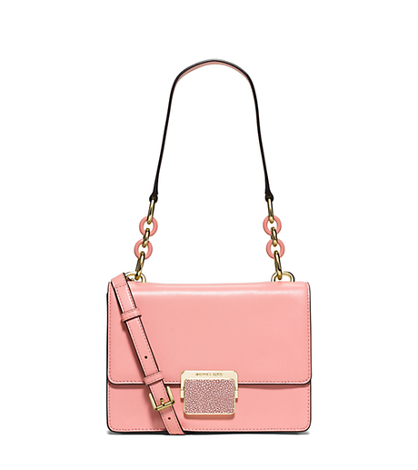 Cynthia Small Leather Shoulder Bag - PALE PINK - 30S6GCYL1N