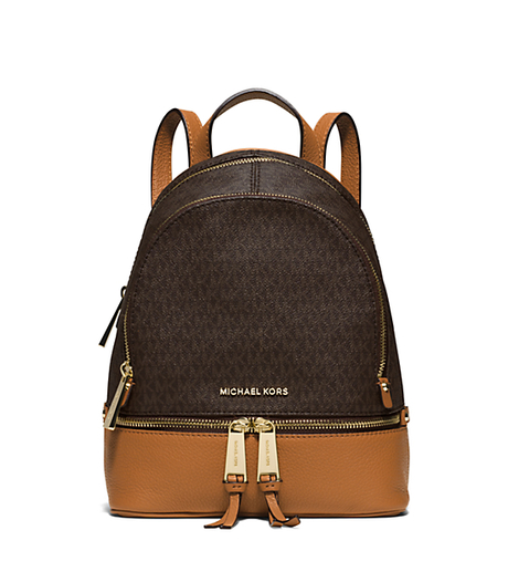 Rhea Small Backpack - BROWN/PEANUT - 30S6GEZB1V