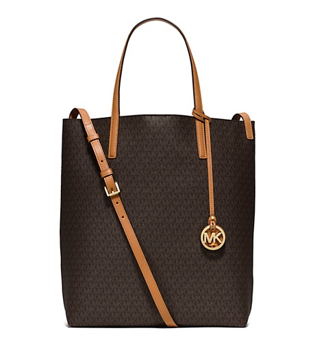 Hayley Large Tote - BROWN/PEANUT - 30S6GH3T3V