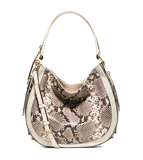 Julia Medium Embossed-Leather Shoulder Bag - ECRU - 30S6GJQL6N