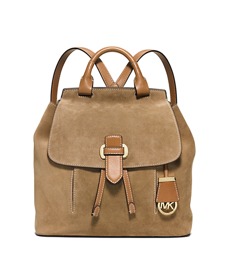 Romy Medium Suede Backpack - DESERT - 30S6GRUB2S