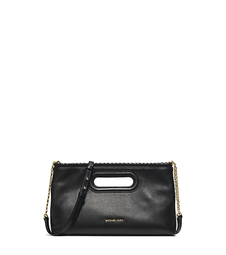 Rosalie Large Leather Clutch - BLACK - 30S6GS5C3L