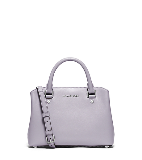Savannah Small Patent-Leather Satchel - LILAC - 30S6SS7S1A
