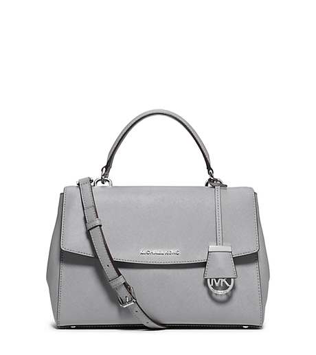 Ava Medium Saffiano Leather Satchel - DOVE - 30T5SAVS3L
