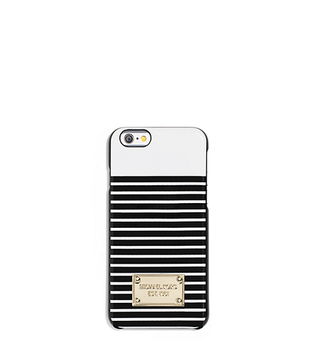 Striped Smartphone Case - WHITE/BLACK - 32S6GELL1R
