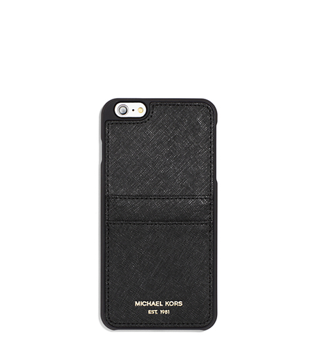Saffiano Leather Smartphone Case - BLACK - 32S6GELL4L