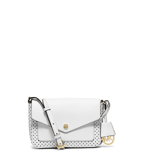 Greenwich Small Saffiano Leather Crossbody - OPTIC WHITE - 32S6GGRC1O