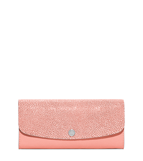 Juliana Large Saffiano Leather Wallet - PALE PINK - 32S6SJRE7N
