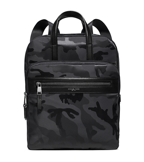 Kent Medium Camouflage Nylon Flight Bag - BLACK - 33S6LKNB6U
