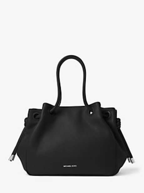 Dalia Large Leather Tote - BLACK - 30T6SDYE3L