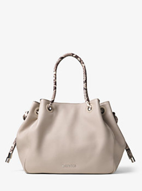 Dalia Large Leather Tote - CEMENT - 30T6SDYE3N