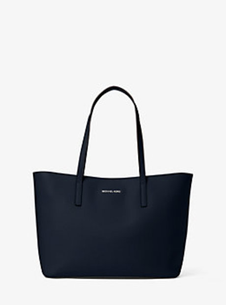 Emry Medium Leather Tote Bag - NAVY - 30T6SE4T2L