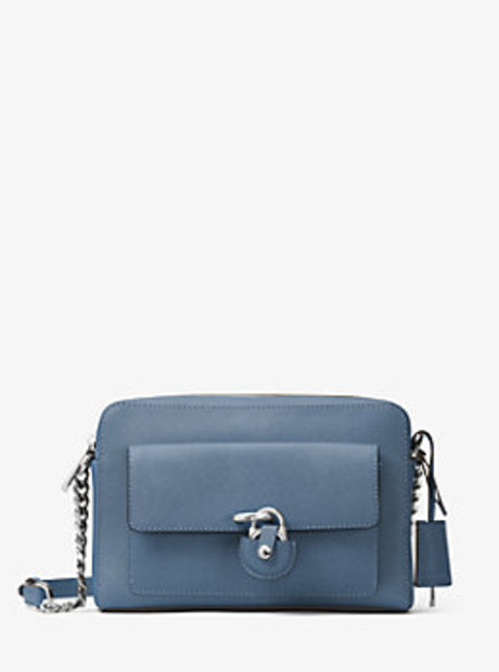 Emma Medium Leather Messenger - CORNFLOWER - 30H6SENM2L
