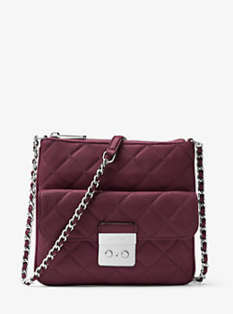 Sloan Medium Quilted-Leather Crossbody - PLUM - 30F6ASLM2L