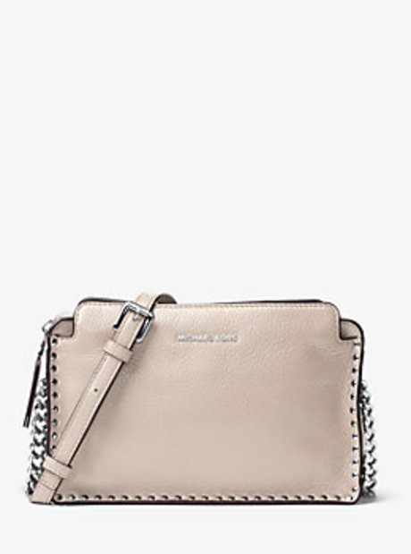 Astor Large Leather Crossbody - CEMENT - 30F6SATM3L