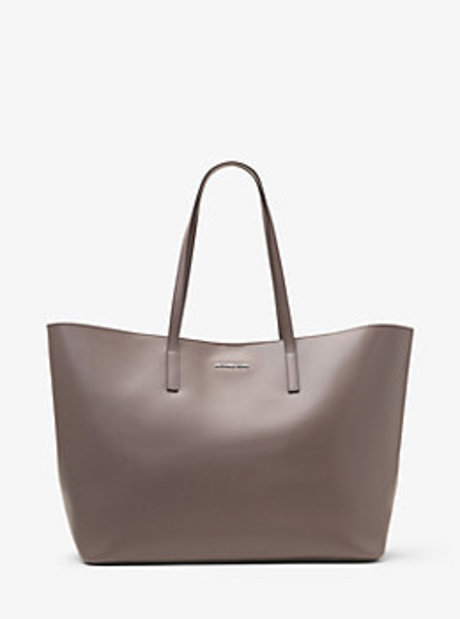 Emry Extra-Large Leather Tote - CINDER - 30T6SE4T4L
