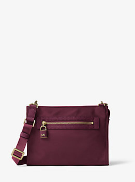 Janie Large Nylon Crossbody - PLUM - 32F6GJZC3C