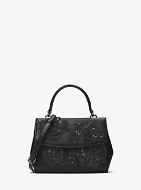 Ava Extra-Small Leather Crossbody - BLACK - 32H6TL8C1U