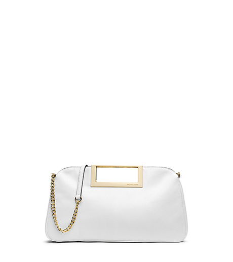 Berkley Leather Clutch - Optic White - 30S4GBKC3L