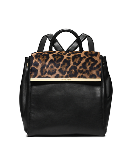 Lana Leopard-Print Hair Calf and Leather Backpack -  - 30H4GKYB3H