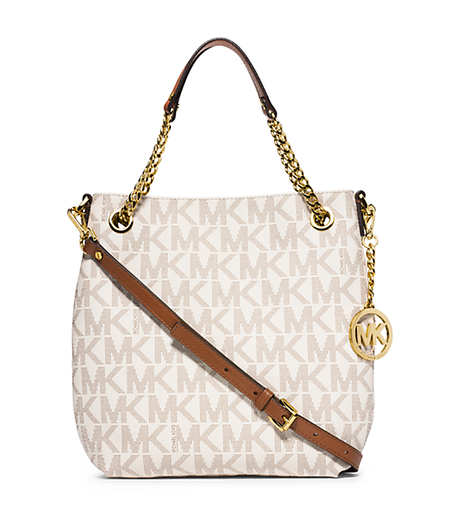 Jet Set Medium Logo Chain Shoulder Bag - VANILLA - 30H4GTCE6B