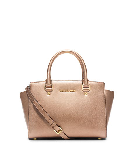 Selma Medium Metallic Leather Satchel -  - 30H4MLMS2M