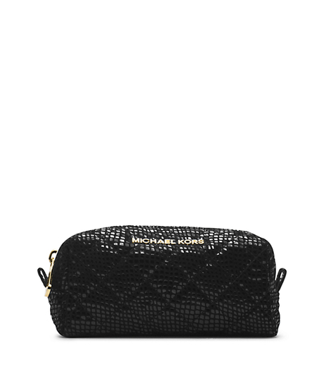 Susannah Snake Pattern-Embossed Patent-Leather Pouch -  - 32H4GAHM1G