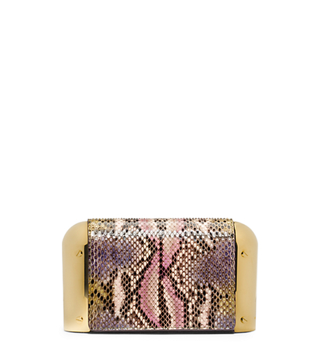 Leyla Small Hand-Painted Python Clutch -  - 31H4GLYC1V