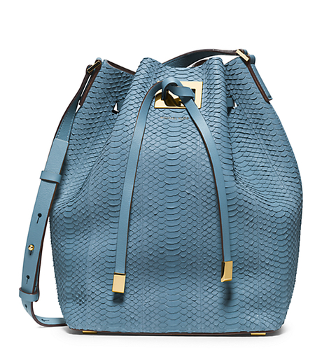 Miranda Large Sueded-Snakeskin Messenger - CORNFLOWER - 31H4MMNM3Z