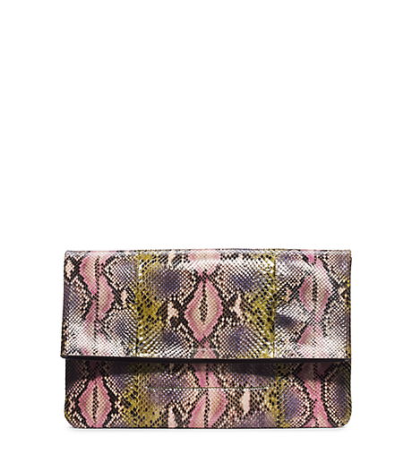 Janey Hand-Painted Python Clutch -  - 31H4TJNC3V