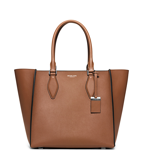 Gracie Large Leather Tote - LUGGAGE - 31F5MGRT3L