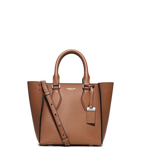 Gracie Small Leather Tote - LUGGAGE - 31F5MGRT1L
