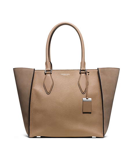 Gracie Large Suede and Leather Tote - DUNE - 31F5PGRT3Y