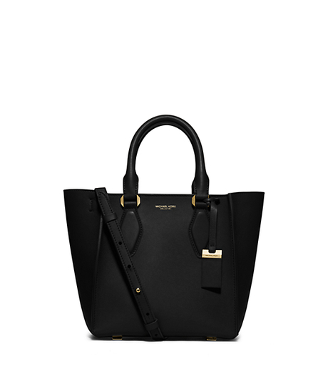 Gracie Small Leather Tote - BLACK - 31H5GGRT1L