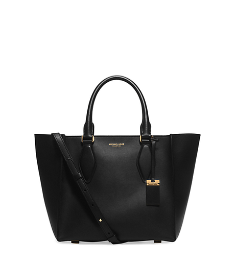 Gracie Medium Leather Tote - BLACK - 31H5GGRT2L