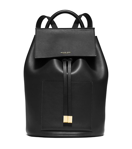 Miranda Large French Calf Leather Backpack - BLACK - 31S6GMDB8L