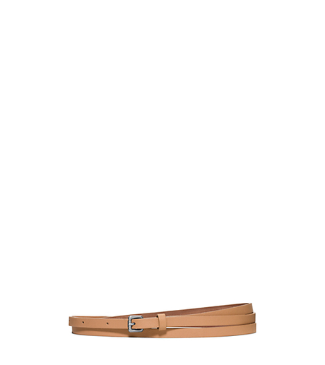 Leather Belt - PEANUT - 31S6PBLA4T