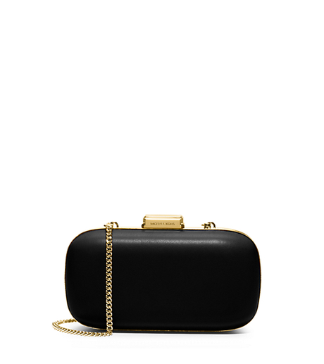 Elsie Leather Dome Clutch -  - 30S5GBXC5L
