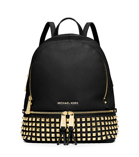 Rhea Small Studded Leather Backpack - BLACK - 30S5GEZB5L