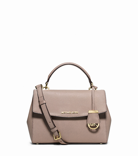 Ava Small Saffiano Leather Satchel - DARK DUNE - 30T5GAVS2L