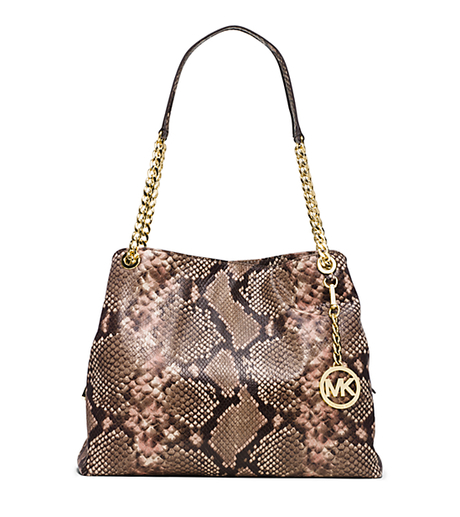 Jet Set Large Embossed-Leather Shoulder Tote - BLOSSOM - 30T5GTCE7E