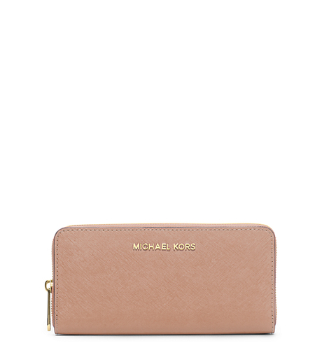 Jet Set Travel Saffiano Leather Continental Wallet - BLUSH - 32S3GTVE3L