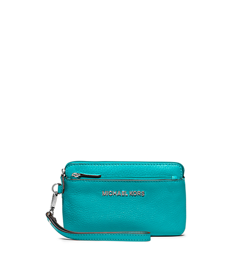 Bedford Medium Leather Wristlet - TURQUOISE - 32T4SBFW2L