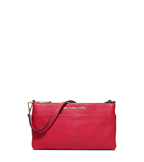 Bedford Large Leather Wristlet - CHILI - 32T5GBFW3L