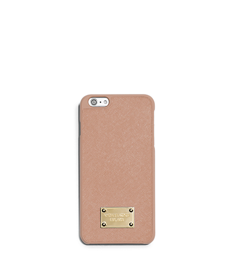 Saffiano Leather Smartphone Case - BLUSH - 32T5GELL1L